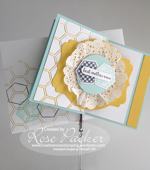 Rose Packer Creative Roses Stampin' Up! Z-fold Six-sided sampler