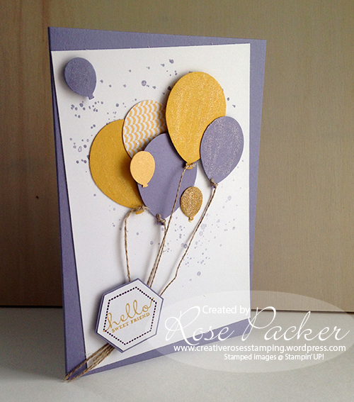 Rose Packer Creative Roses Stampin' Up! Balloons