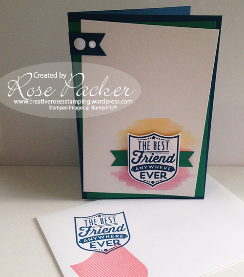 Rose Packer CreativeRoses Stampin' Up! Badges and Banners