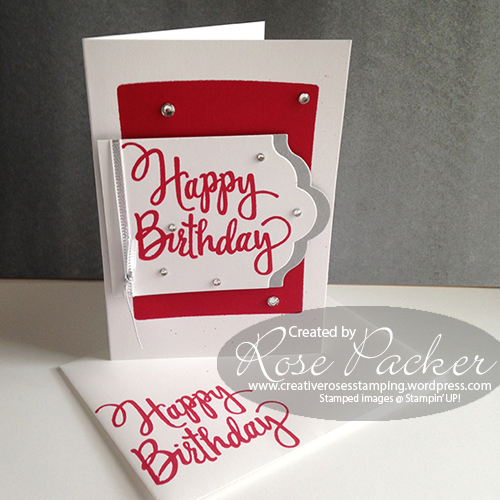 Rose Packer CreativeRoses Stylised Happy birthday Stampin' Up!