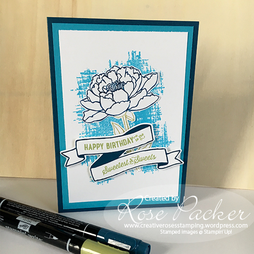 Rose Packer Creative Roses Stampin' Up! Birthday banners Banners for You Bunch of banners You've Got this