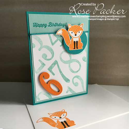 Rose Packer Creative Roses Stampin' Up! Foxy Friends
