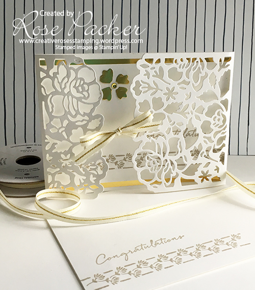 Rose Packer Creative Roses Detailed Floral thinlit dies Stampin' Up!