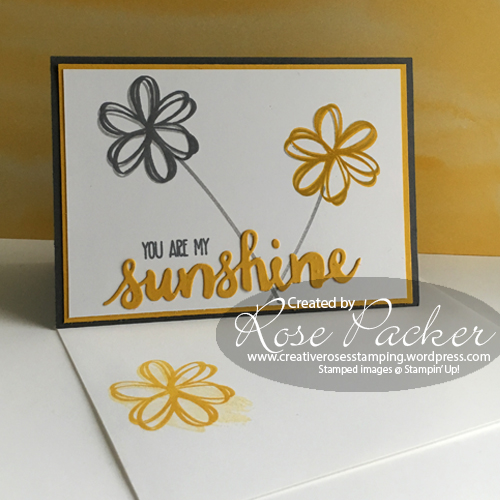 Rose Packer Creative Roses Sunshine Sayings Sunshine wishes Stampin' Up!