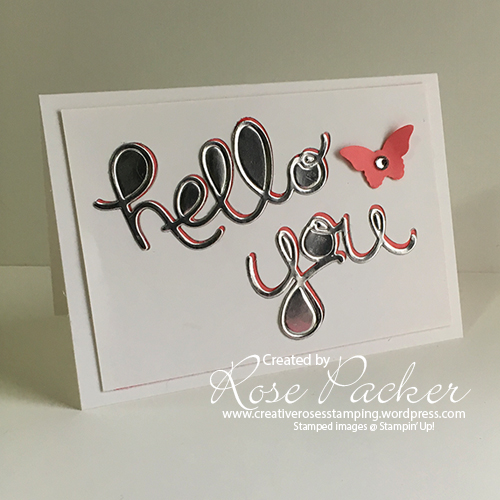 Rose Packer, Creative Roses, Stampin' Up!, Hello You thinlit