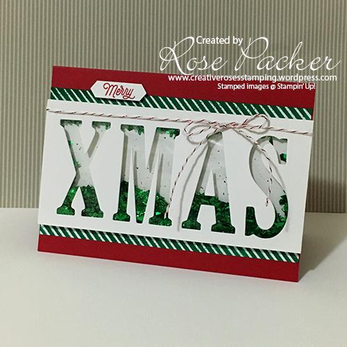 Rose Packer, Creative Roses, Stampin' Up!, Shaker Card, Christmas