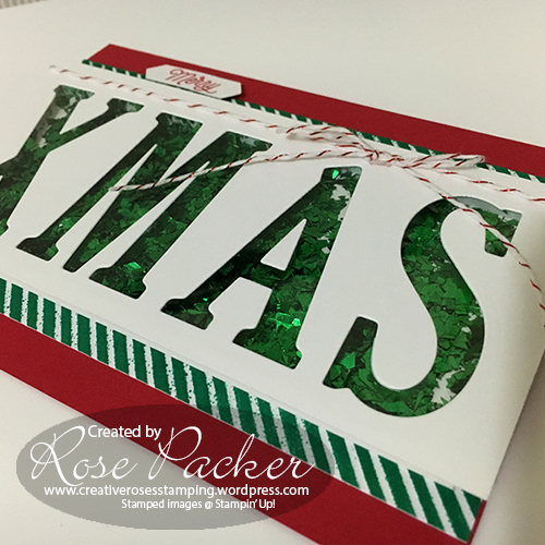 Rose Packer, Creative Roses, Stampin' Up!, Shaker Cards, Christmas