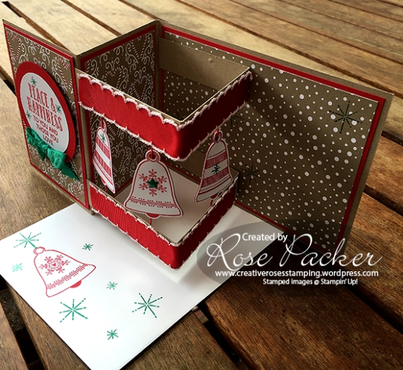Rose Packer, Creative Roses, Stampin' Up!, Seasonal Bells, Box Z-fold