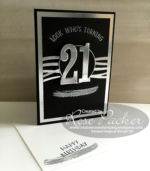 Rose Packer, Creative Roses, Stampin' Up!, Number of Years, Swirly Scribbles, 21st card