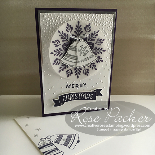 Rose Packer, Creative Roses, Stampin' Up!, Frosted Medallion, Seasonal Bells