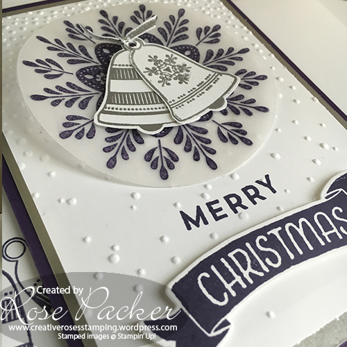 Rose Packer, Creative Roses, Stampin' Up! Frosted Medallion, Seasonal Bells