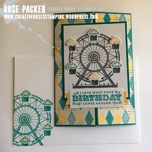 Rose Packer, Creative Roses, Stampin' Up! Cupcake and Carousels, Birthday Carousel