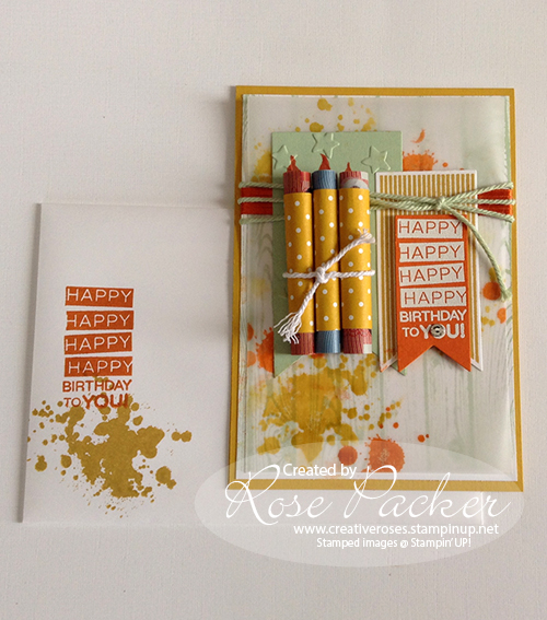Rose Packer, Creative Roses, Stampin' Up! Gorgeous Grunge, Banner Framelits