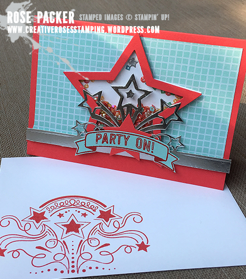 Rose Packer, Creative Roses, Stampin' Up!, Birthday Blast, Star Blast thinlit