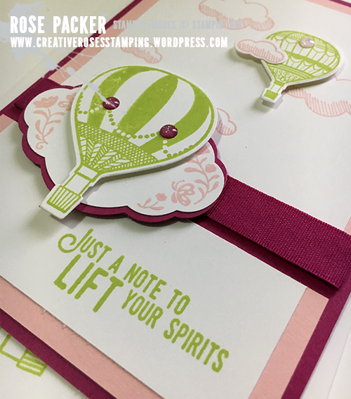 Rose Packer, Creative Roses, Stampin' Up! Lift me up, Up and away, Pretty Label punch