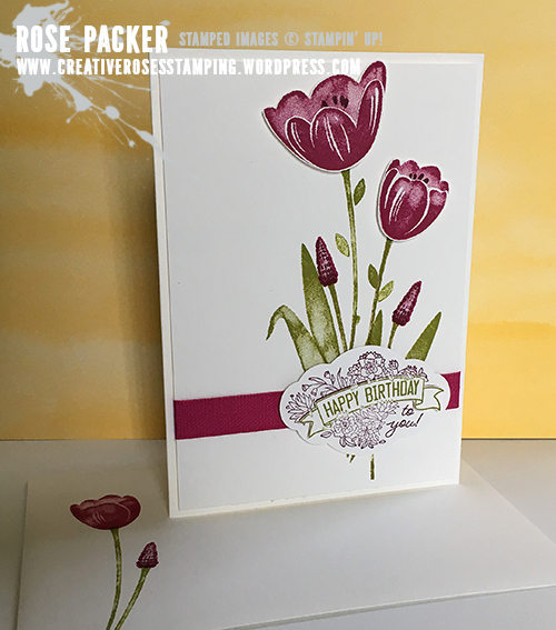 Rose Packer, Creative Roses, Stampin' Up! Tranquil Tulips, Label Me Pretty