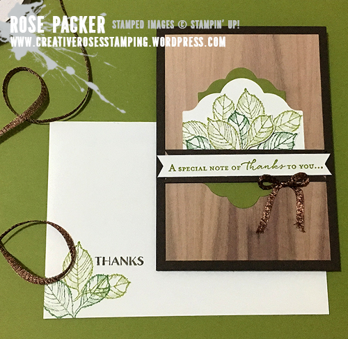 Rose Packer, Creative Roses, Stampin' Up!, Wood Textures, Floral Phrases, Birthday Blossom