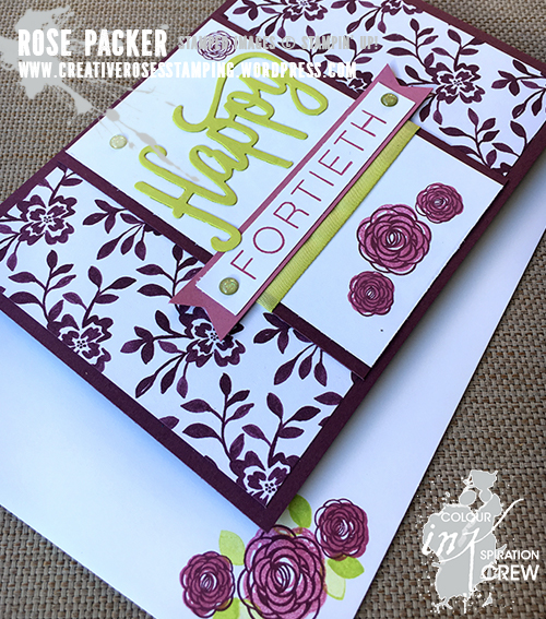Rose Packer, Creative Roses, Stampin' Up! Happy Birthday Gorgeous