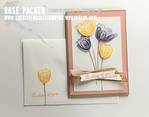 Rose Packer, Creative Roses, Stampin' Up! Tranquil Tulips