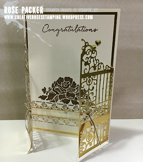 Rose Packer, Creative Roses, Stampin' Up!, Detailed Gate Framelit