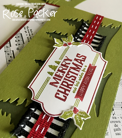 Rose Packer, Creative Roses, Stampin' Up! Merry Little Christmas suite