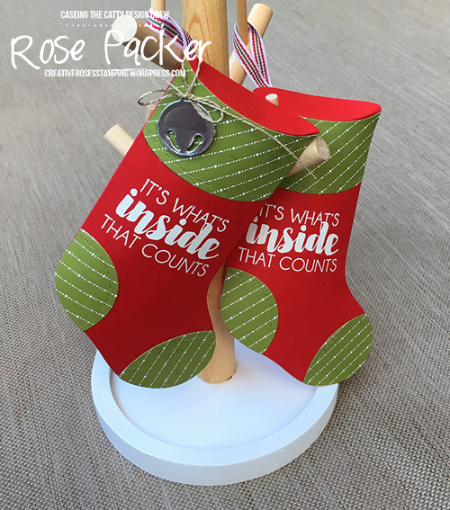 Rose Packer, Creative Roses, Stampin' Up! Tags & Trimming bundle, Trim your Stocking thinlit