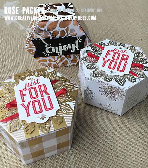 Rose Packer, Creative Roses, Stampin' Up!, Year of Cheer, Window Box