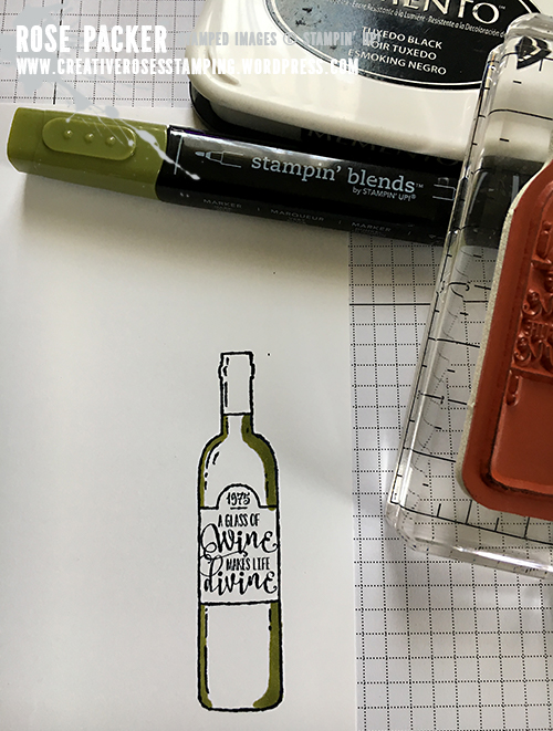 Rose Packer, Creative Roses. Stampin' Up!, Half Full, Stampin' Blends