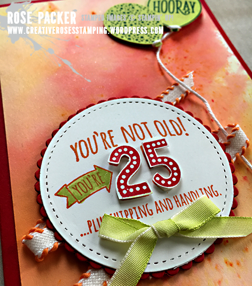 Rose Packer, Creative Roses, Stampin' Up! Brushos, Five for all