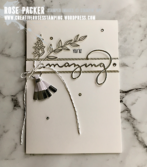 Rose Packer, Creative Roses, Stampin' Up! Sweet Soiree Embellishment kit