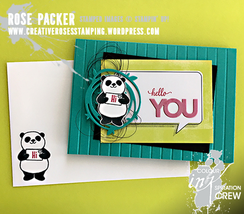 Rose Packer, Creative Roses, Stampin' Up! Petal Garden Memories & More, Party Pandas,Celebrate You thinlits