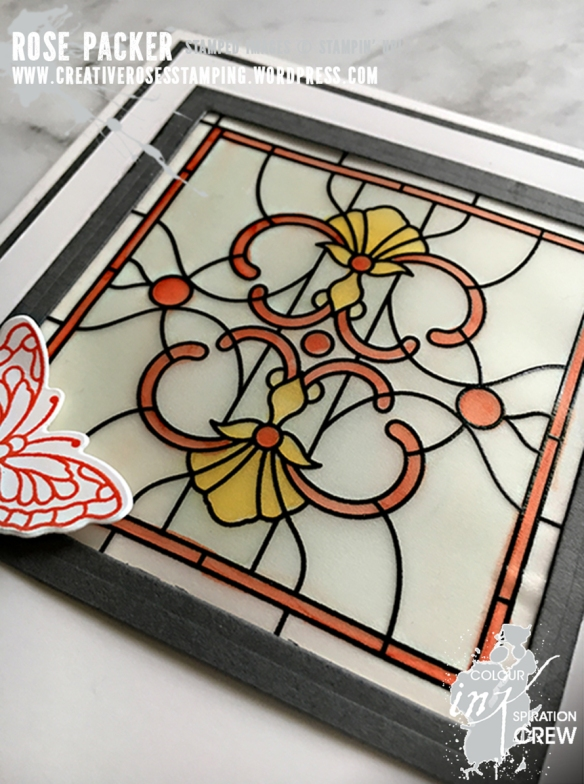 Rose Packer, Creative Roses, Stampin' Up!, Graceful Glass, Painted Glass, Stained Glass thinlits