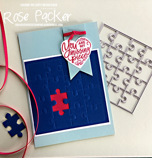 Rose Packer, Creative Roses, Stampin' Up! Love You to Pieces, Puzzle pieces thinlits