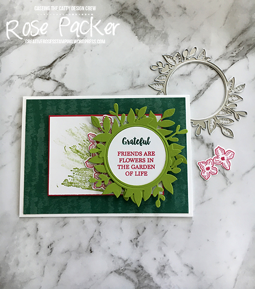 Rose Packer, Creative Roses, Stampin' Up!, Floral Frames, Foliage frame framelits