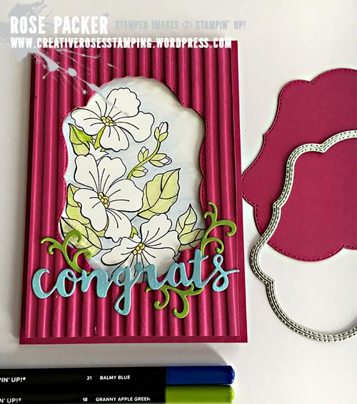 Rose Packer, Creative Roses, Stampin' Up!, Blended Season stamp set, Stitched Seasons framelits, Corrugated Embossing Folder