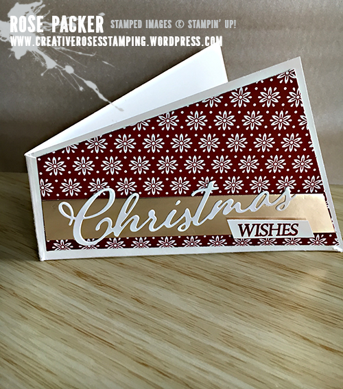 Rose Packer, Creative Roses, Stampin' Up!, Merry Christmas to All, Flourish Filigree, Gift card holder