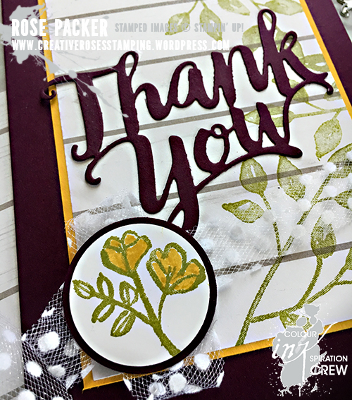 Rose Packer, Creative Roses, Stampin' Up!, Thank You thinlit, Petal Palette