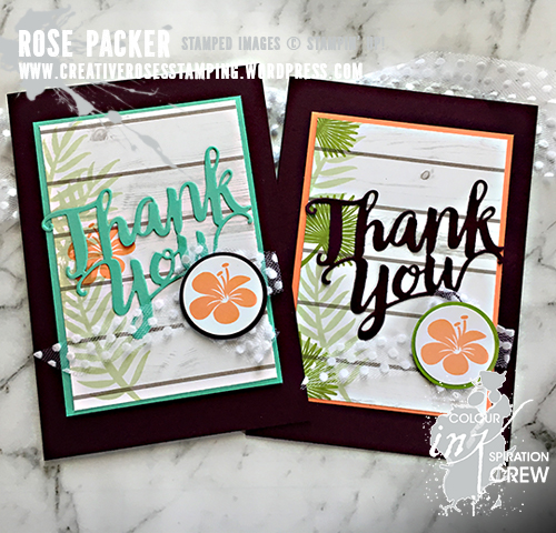 Rose Packer, Creative Roses, Stampin' Up!, Thank You thinlit, Tropical Chic
