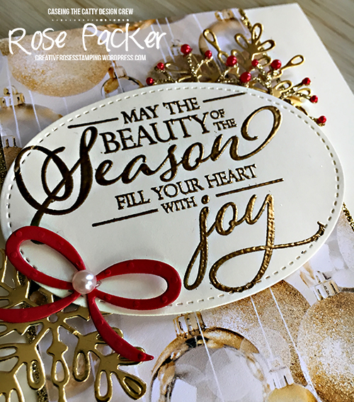 Rose Packer, Creative Roses, Stampin' Up! All is Bright DSP, Making Christmas Bright, Swirly Snowflake thinlit, Pretty Pines thinlits