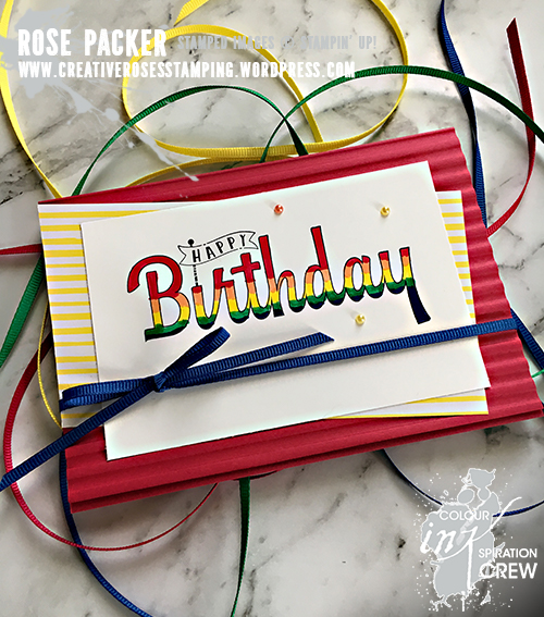 Rose Packer, Creative Roses, Stampin' Up!, Birthday Wishes For You, 2018 In Colors