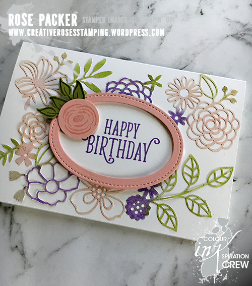 Rose Packer, Creative Roses, Stampin' Up!, Delightfully Detailed Laser Cut paper, Perennial Birthday, Happy Birthday Gorgeous