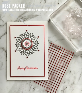 Rose Packer, Creative Roses, Stampin' Up!, Happiness Surrounds stamp set, Christmas, snowflake