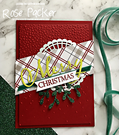 Rose Packer, Creative Roses, Stampin' Up! Merry Christmas to all, Sprig punch