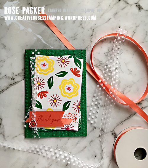Rose Packer, Creative Roses, Stampin' Up!, Bloom by Bloom, Happiness Blooms suite, Tropical Chic