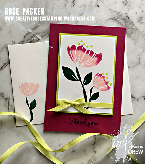 Rose Packer, Creative Roses, Stampin' Up!, Bloom by Bloom, Happiness Blooms suite, 2017 InColors