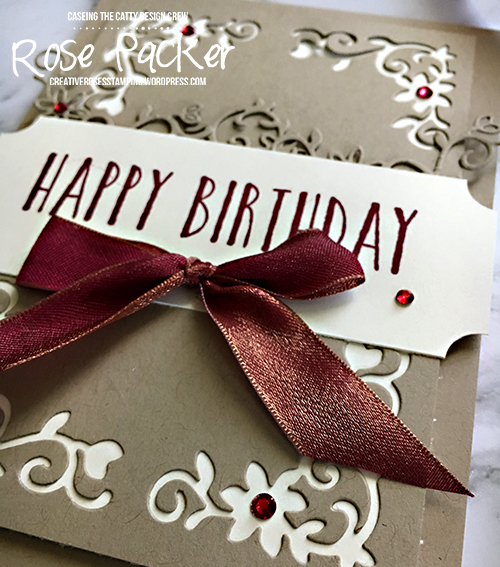 Rose Packer, Creative Roses, Stampin' Up!, Detailed Deer thinlit dies, Perennial Birthday