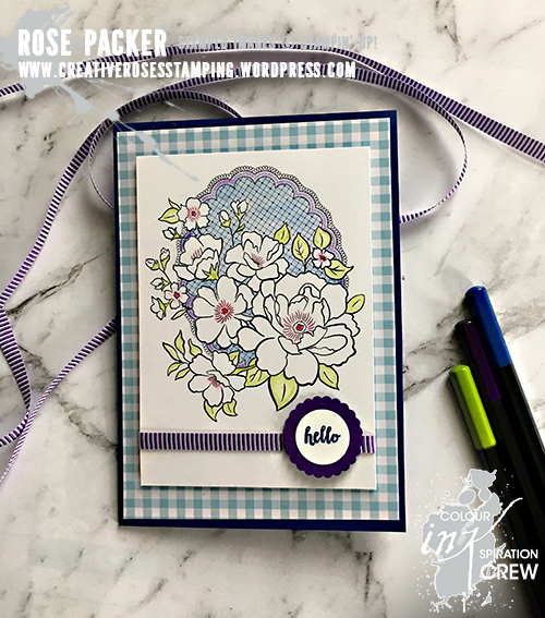 Rose Packer, Creative Roses, Stampin' Up!, Lovely Lattice, A Big Thank You