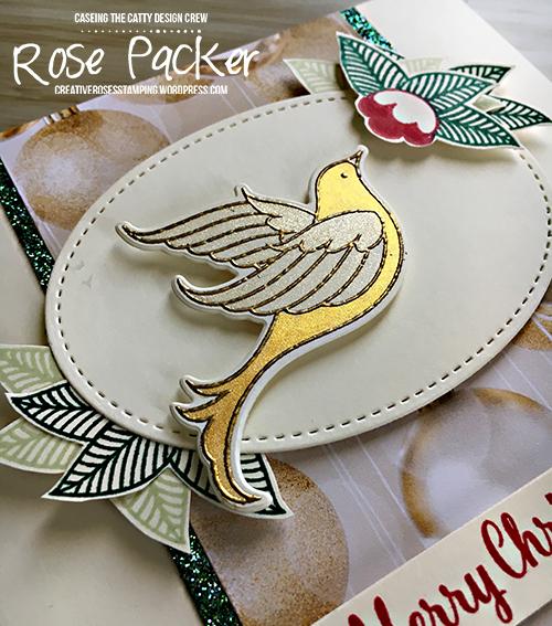 Rose Packer, Creative Roses, Stampin' Up!, Serene Garden, Shimmer Paint, Christmas