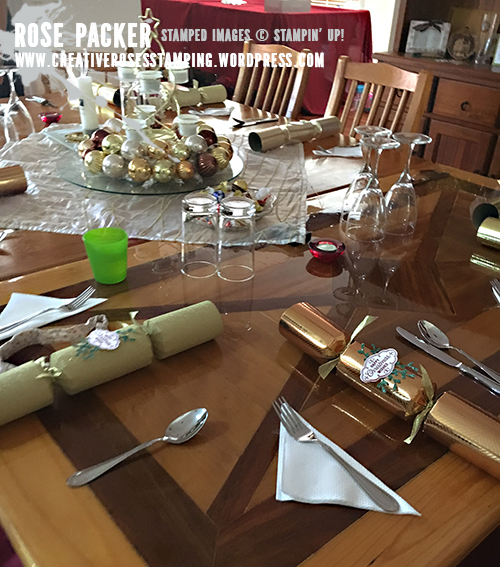 Rose Packer, Creative Roses, Stampin' Up!, Flourish Filigree, Christmas crackers, bon bons