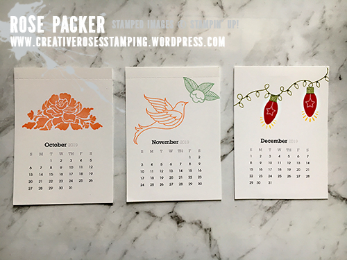 Rose Packer, Creative Rose, Stampin' Up!, 2019 Calendar